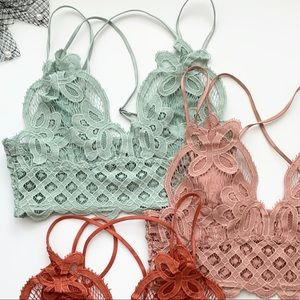 THE CROCHETED LACE BRALETTE - SAGE